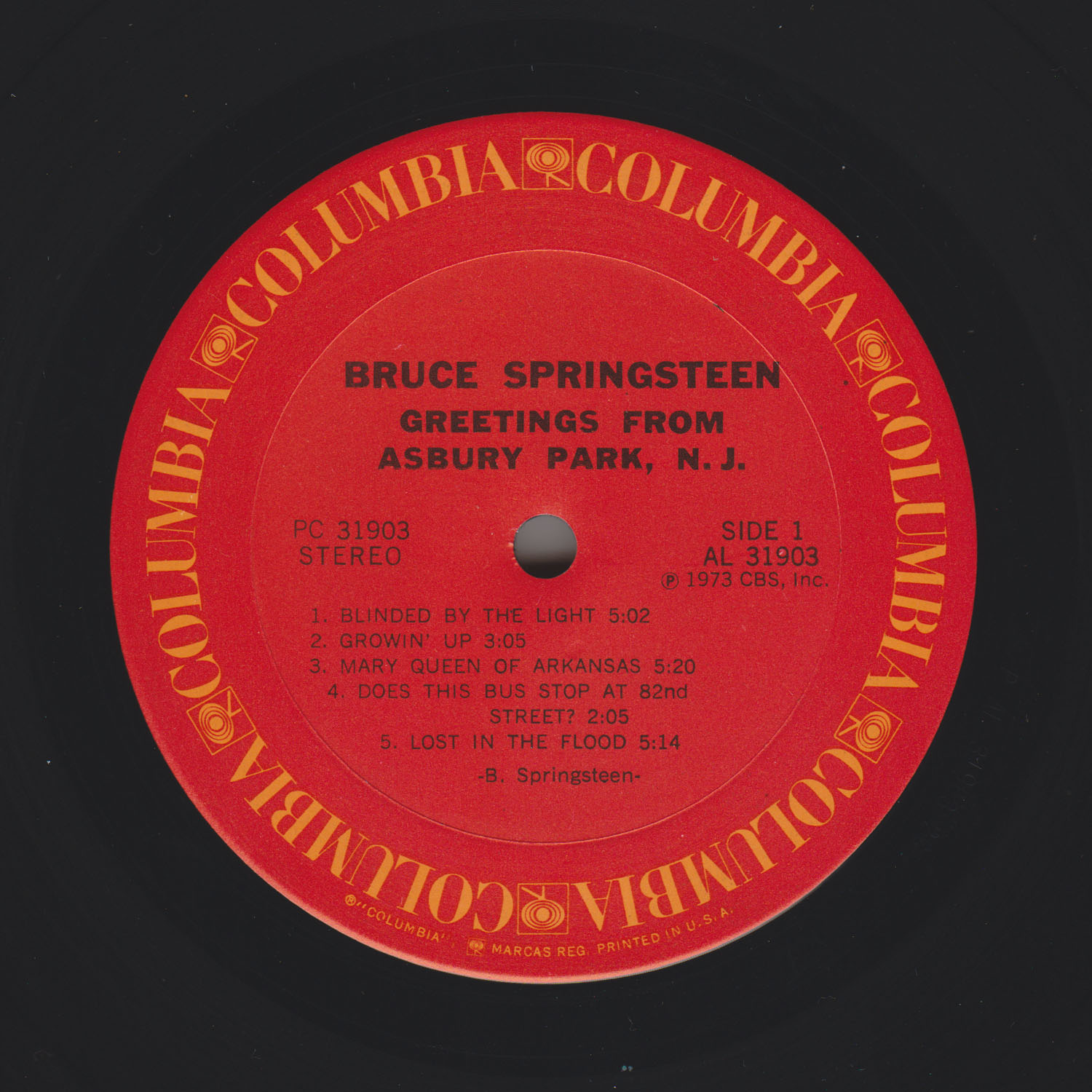 Bruce Springsteen Collection Greetings From Asbury Park Nj