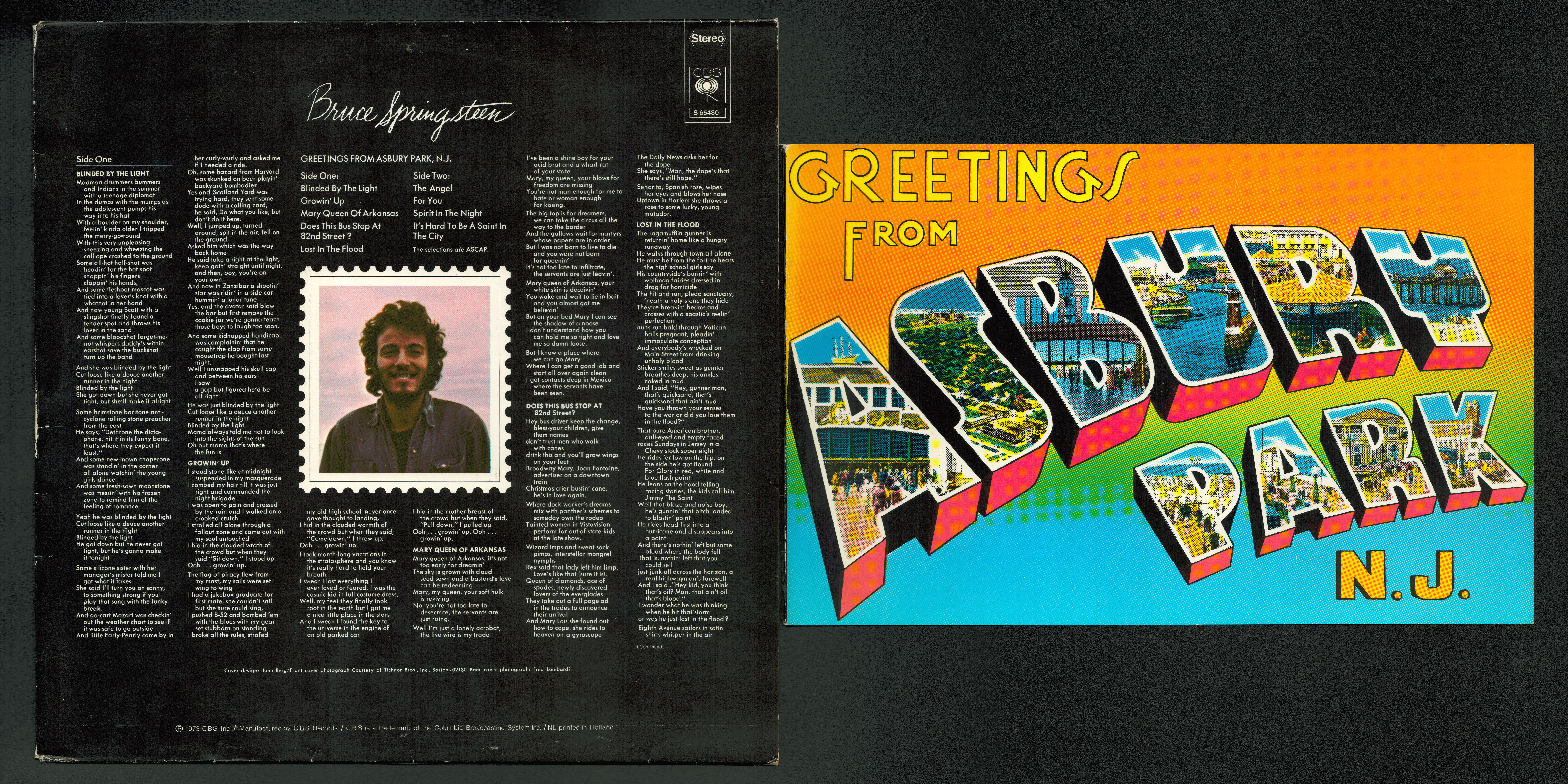 Bruce springsteen collection greetings from asbury park nj pages m4hsunfo
