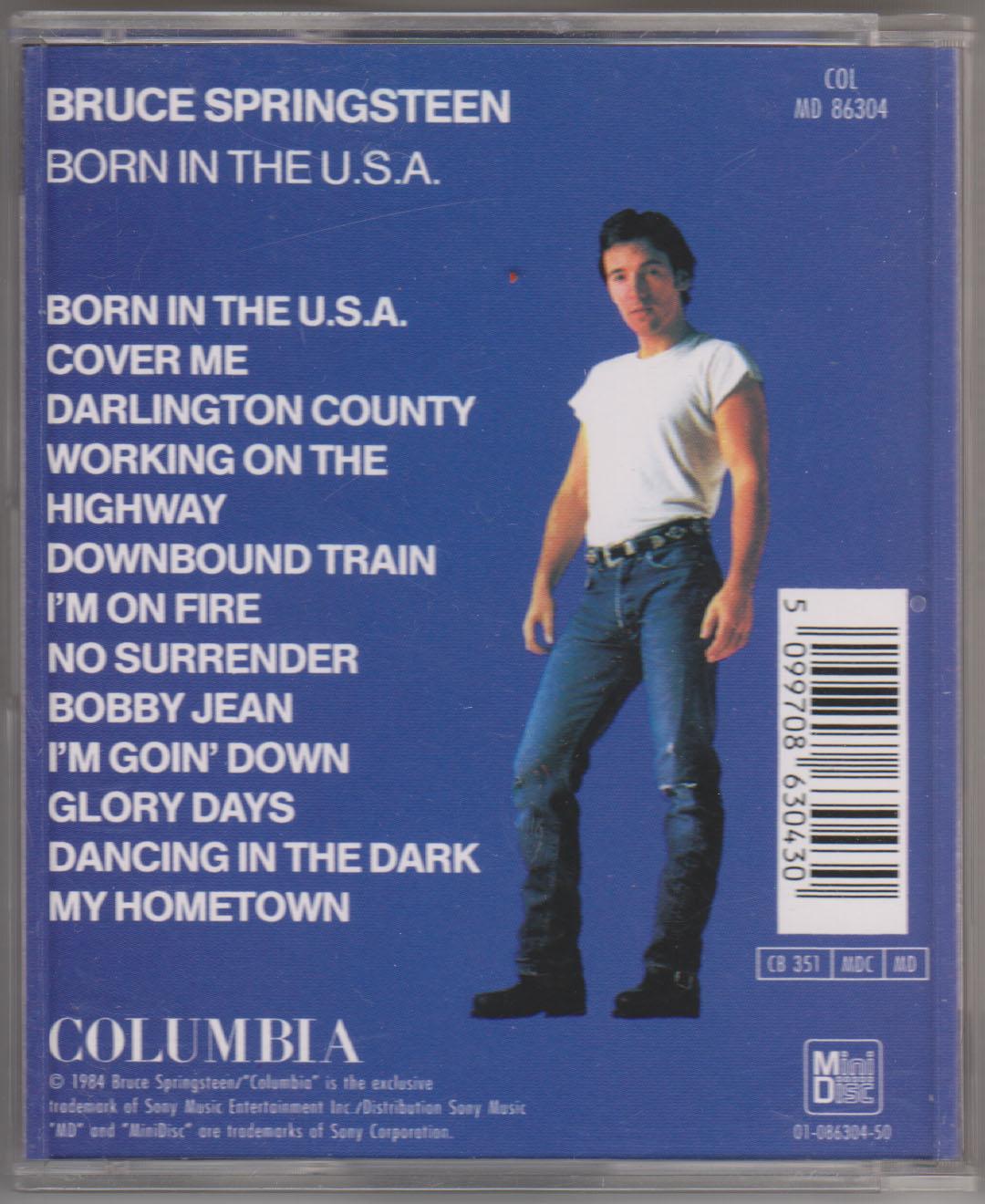 Bildergebnis fÃr MD 86304   Bruce Springsteen Born in the usa