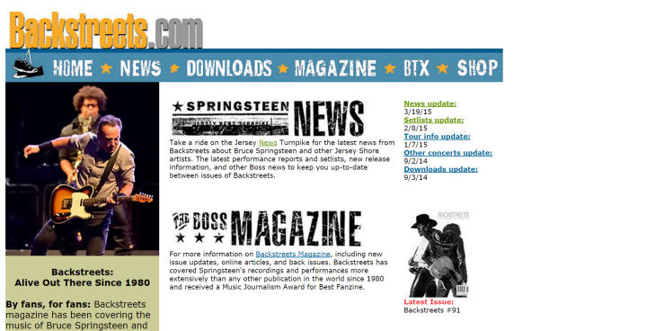 Bruce Springsteen Website Links