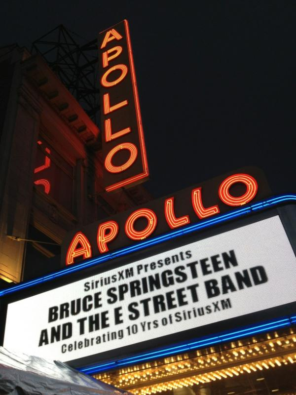 Marquee for the 09 Mar 2012 show at Apollo Theater -- Christopher Phillips photo (