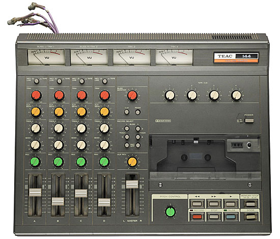 The four-track cassette recorder that Bruce Springsteen used to record his famous Nebraska demo tape of January 1982