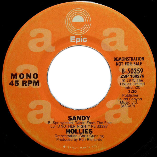 "The Hollies -- ""Sandy / Sandy"""