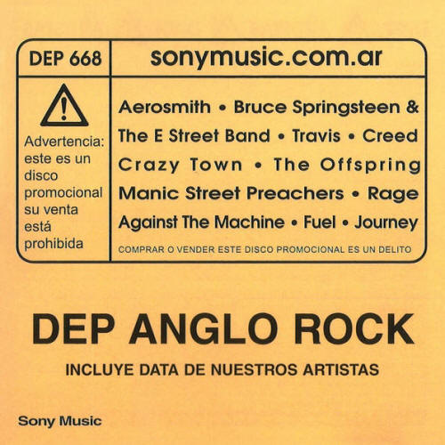 Various artists -- Dep Anglo Rock (album cover art)