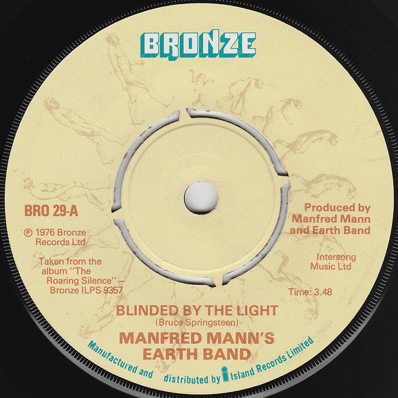 Bruce Springsteen Lyrics: BLINDED BY THE LIGHT [Manfred ...