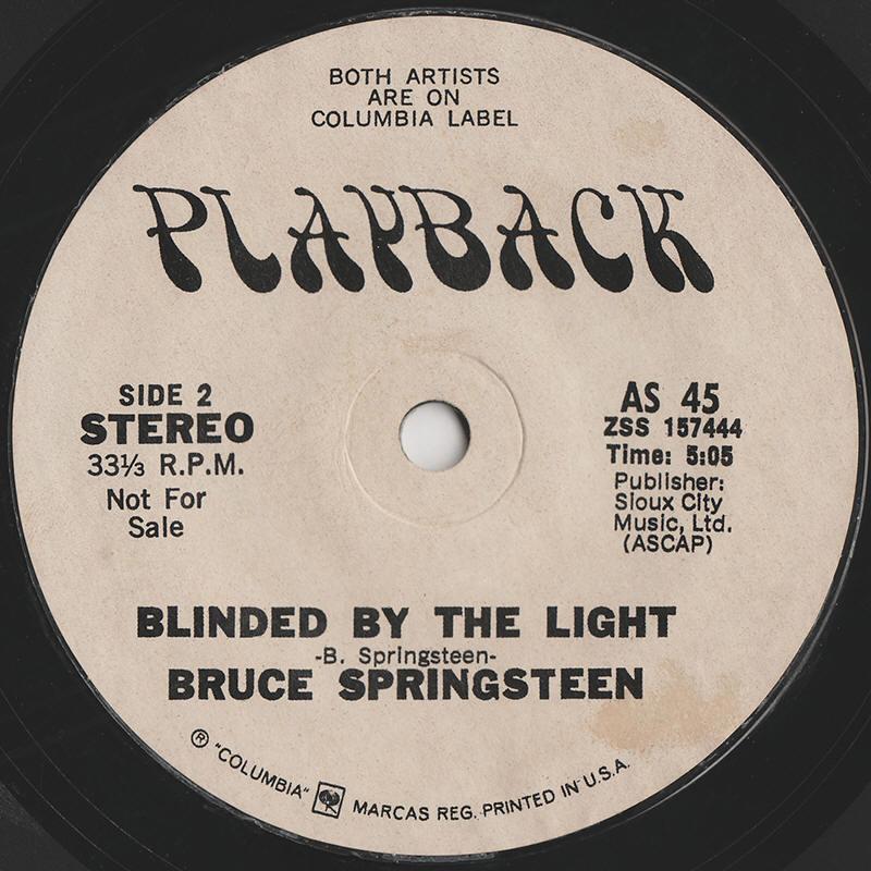 Bruce Springsteen Lyrics Blinded By The Light Album Version