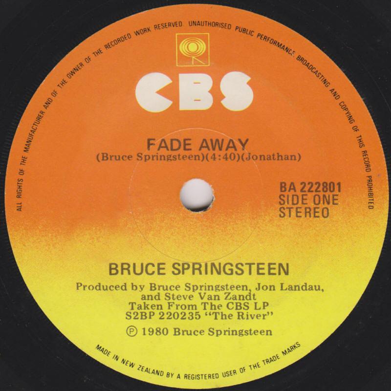 Bruce Springsteen Lyrics: FADE AWAY [Album Version]