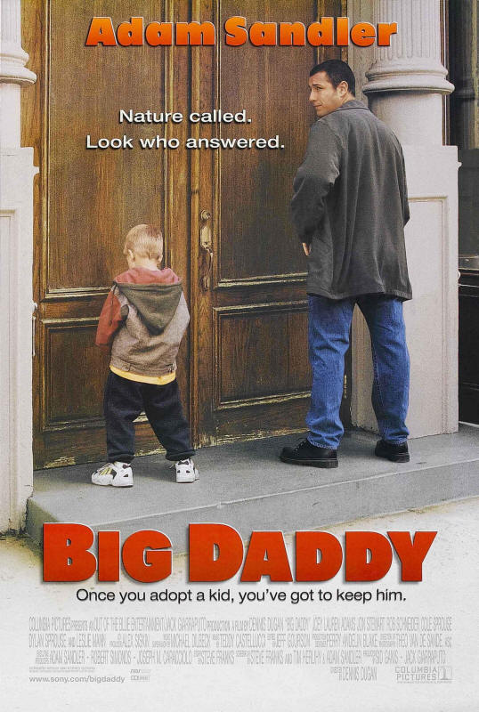 "Promotional poster for the film ""Big Daddy"""