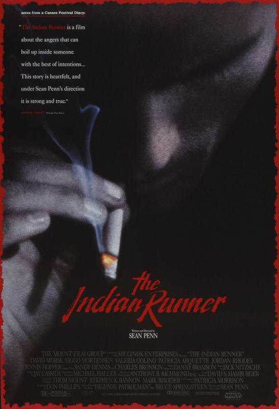 "Promotional poster for the film ""The Indian Runner"""