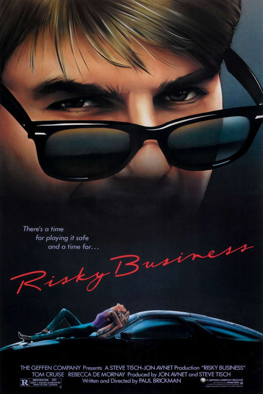 "Promotional poster for the film ""Risky Business"""