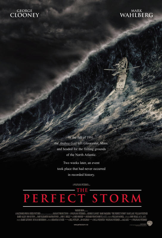 "Promotional poster for the film ""The Perfect Storm"""