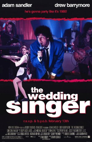 "Promotional poster for the film ""The Wedding Singer"""