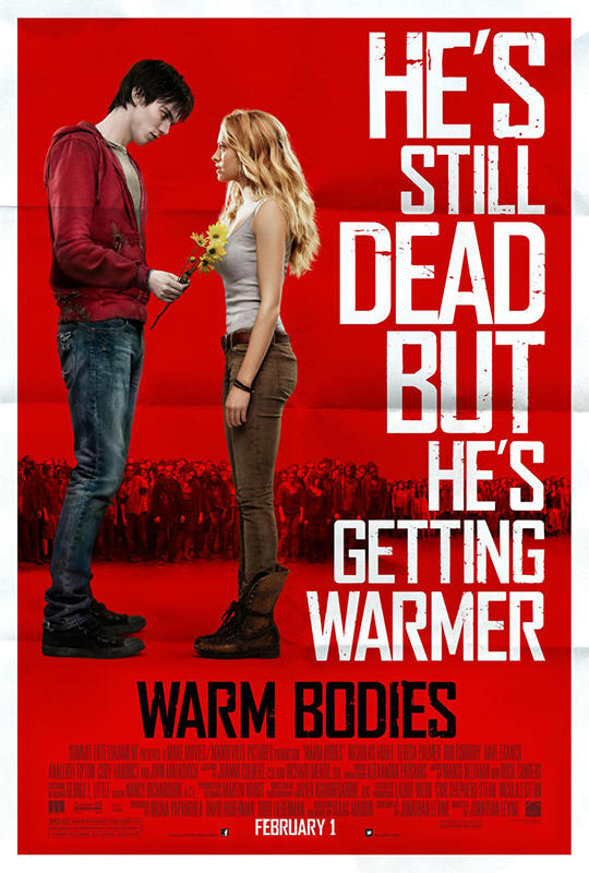 "Promotional poster for the film ""Warm Bodies"""