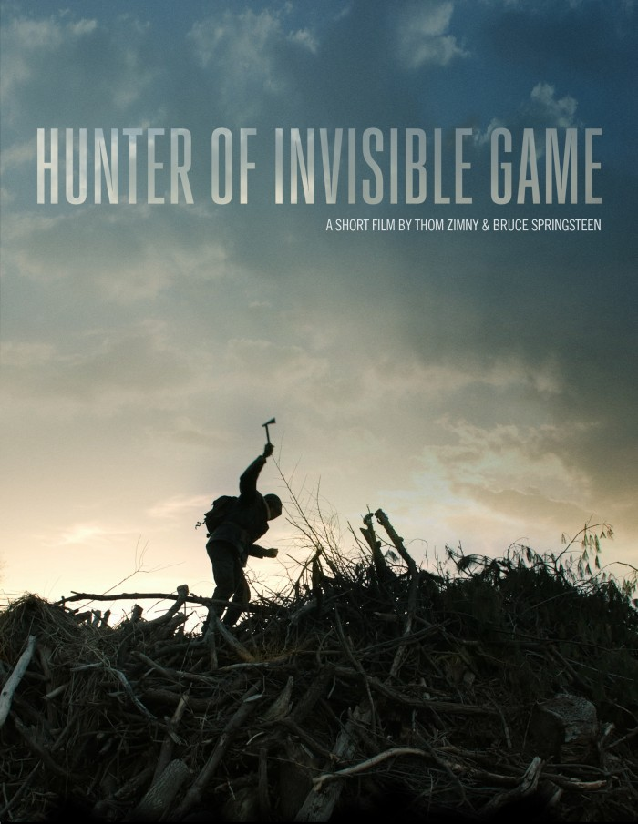 "Promotional poster for the ""Hunter Of Invisible Game"" short film"