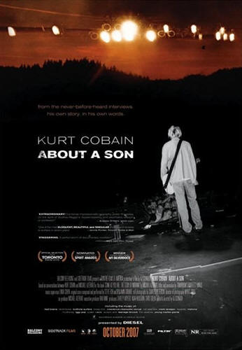 "Promotional poster for the film ""Kurt Cobain About A Son"""