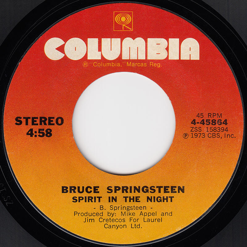 "Bruce Springsteen -- ""Spirit In The Night / For You"""