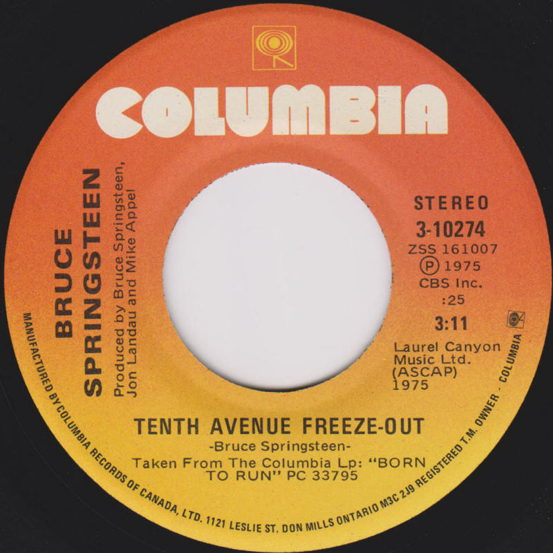 Bruce Springsteen - Tenth Avenue Freeze-Out Lyrics ...