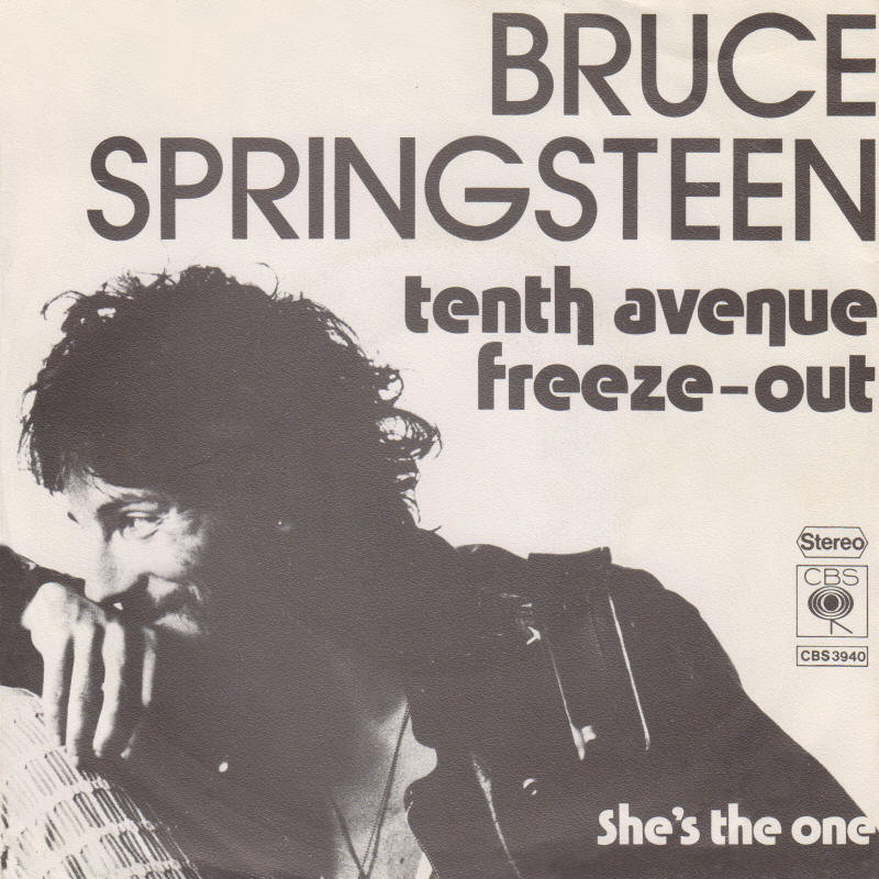 "Bruce Springsteen -- ""Tenth Avenue Freeze-Out / She's The One"" (Germany 7-inch single, front sleeve)"
