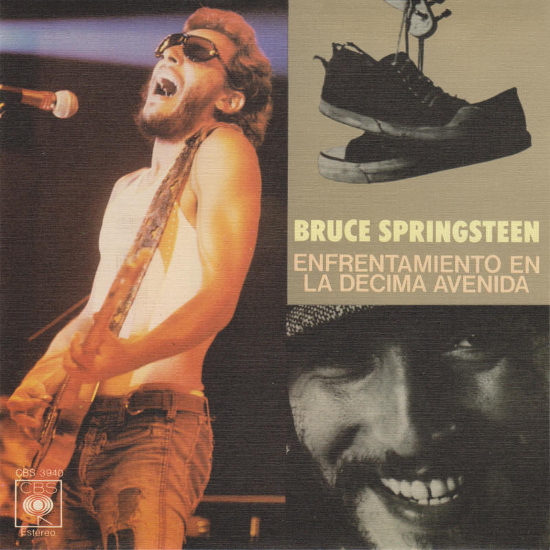 "Bruce Springsteen -- ""Tenth Avenue Freeze-Out / She's The One"" (Spain 7-inch single, front sleeve)"