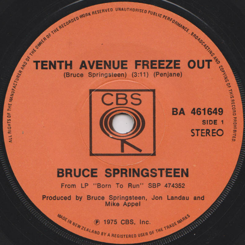 Tenth Avenue Freeze-out by Bruce Springsteen - Songfacts