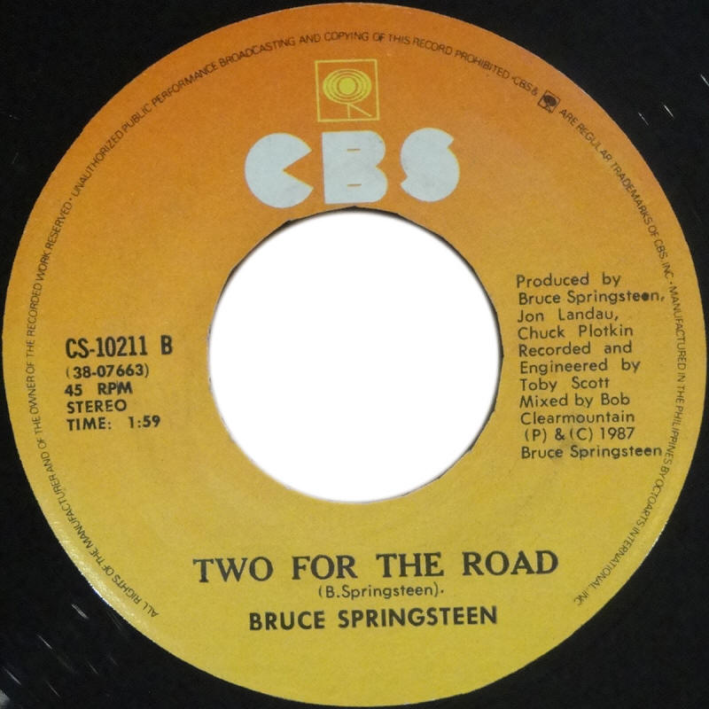 "Bruce Springsteen -- ""Tunnel Of Love / Two For The Road"""