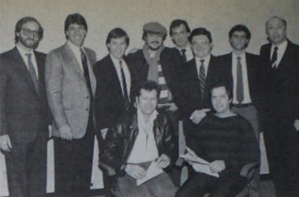 Arista Records executives and J.A.M. representatives at a meeting to discuss the release of the single (taken from Billboard magazine)